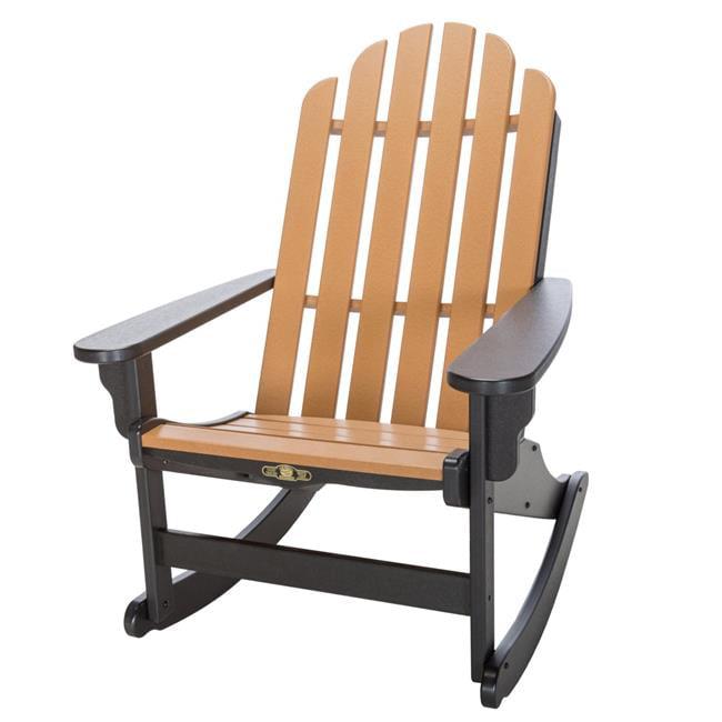 Pawleys Island Hammocks 96355414333 Durawood Essential Adirondack Rocking Chair - Black & Cedar