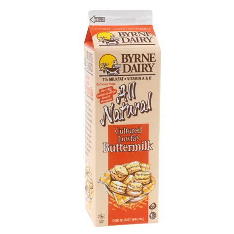 Byrne Dairy All Natural Lowfat Buttermilk, 32 oz