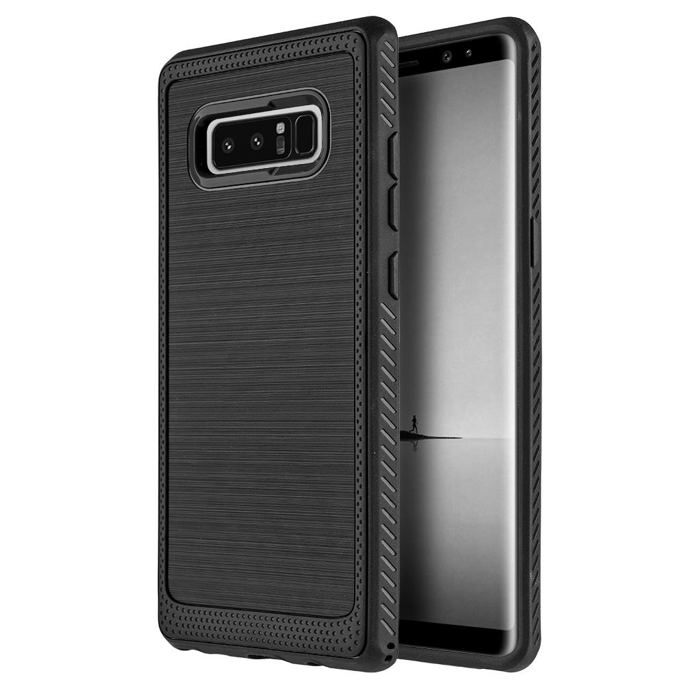 Samsung Galaxy Case,Premium Soft Slim Flexible TPU Cover Custom Fit Integrated Designed Back Case(Shockproof, Raised Bezel, Anti Scratch,Lightweighted) for Samsung Galaxy Note 8 SM -N950U-Black