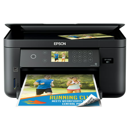 Epson Expression Home XP-5100 Wireless Color Photo Printer with Scanner & Copier (Walmart (Best Small Office Color Laser Printer Scanner)