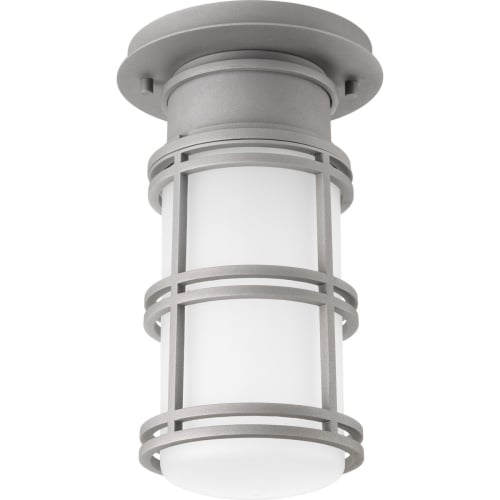"""Progress Lighting P6536-LED Bell 7"""" Wide Single Light Flush Mount Energy Star LED Outdoor Ceiling Fixture with Cylinder Shade"""