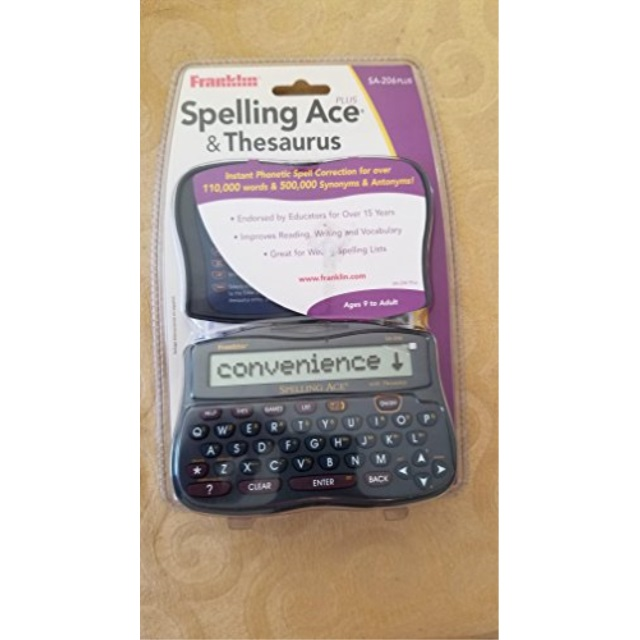 Franklin Electronics Franklin  Spelling Ace & Thesaurus, 1 ea
