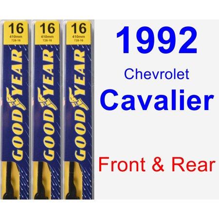 1992 Chevrolet Cavalier Wiper Blade Set/Kit (Front & Rear) (3 Blades) - Premium