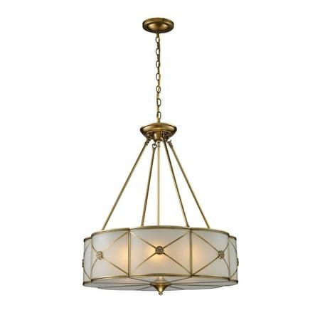 Preston 6-Light Pendant In Brushed Brass - image 1 de 1