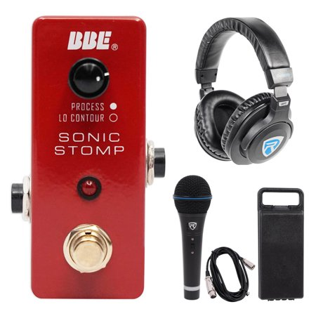 Bbe Sonic Maximizer (BBE MS-92 Mini Sonic Stomp Sonic Maximizer Stomp Pedal+Headphones+Mic+Cable+Case )