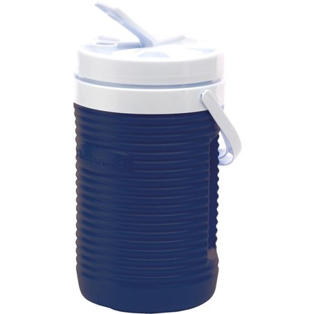 a1f0142932 Rubbermaid FG154406MODBL 1/2 Gallon Blue Victory Thermal Jug Water Coolers  - Walmart.com