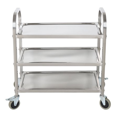 Stainless Steel 3 Tier Kitchen Trolley Cart With Wheels Free Diving Mask