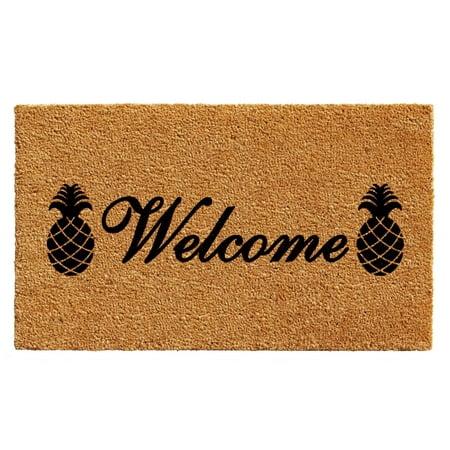 """Calloway Mills Welcome Pineapples Outdoor Doormat 17"""" x 29"""""""