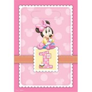 Amscan 379579 Minnie Mouse Favor Bags For 1st Birthday - Pack of 48