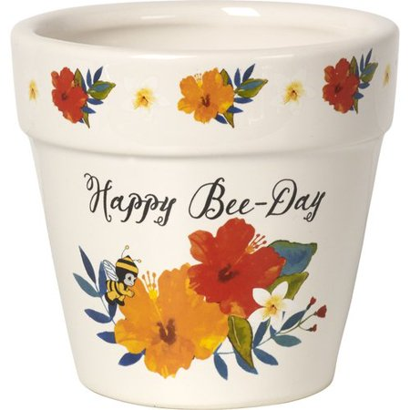 Precious Moments Happy Bee-Day Flower Pot Ceramic 171495 - Flower Hippy