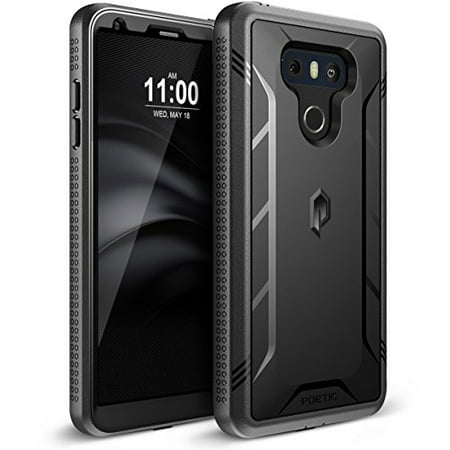 Poetic Revolution Heavy Duty Protection Hybrid Case with Built-in Screen  Protector for LG G6 Black