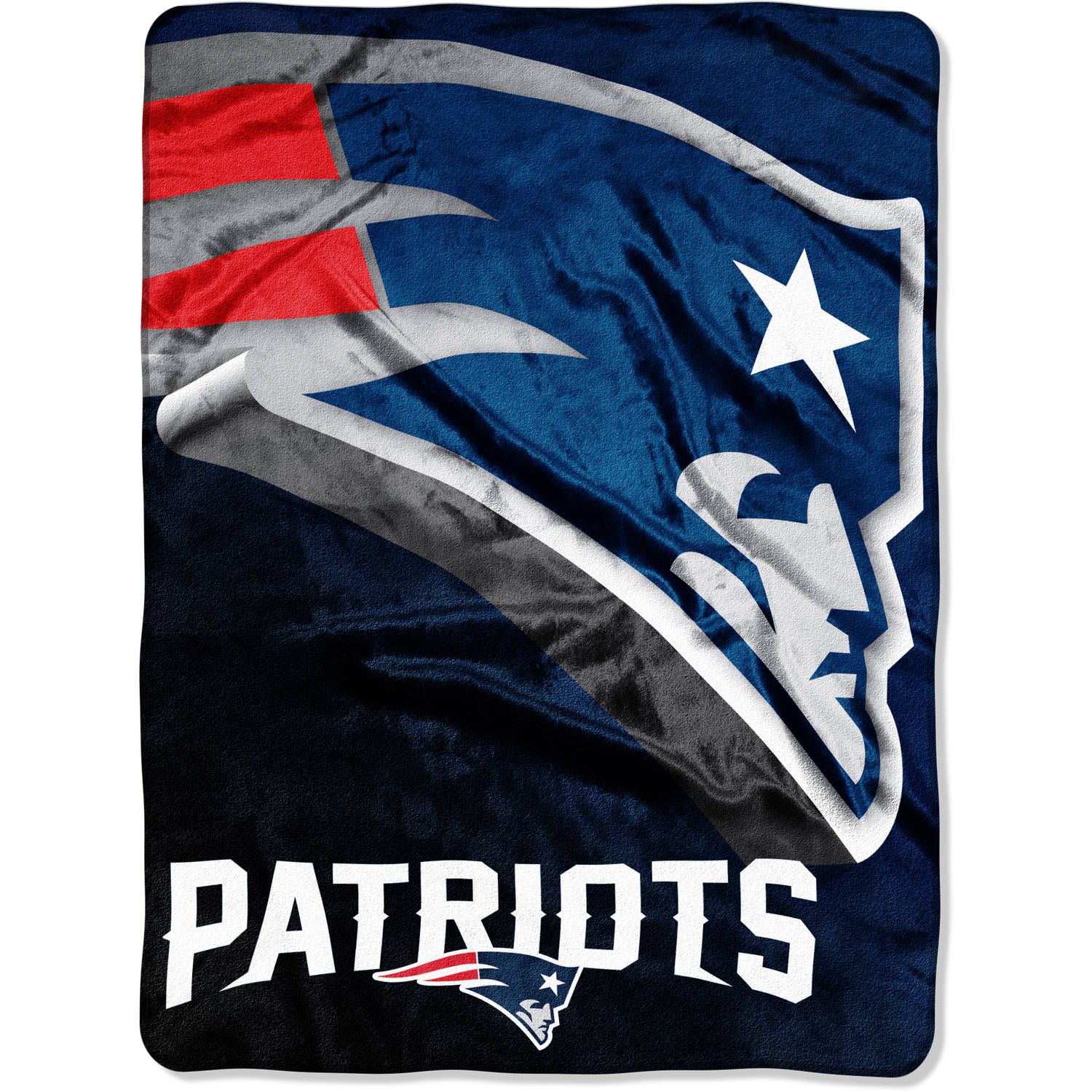 "NFL New England Patriots 60"" x 80"" Oversized Micro Raschel Throw"