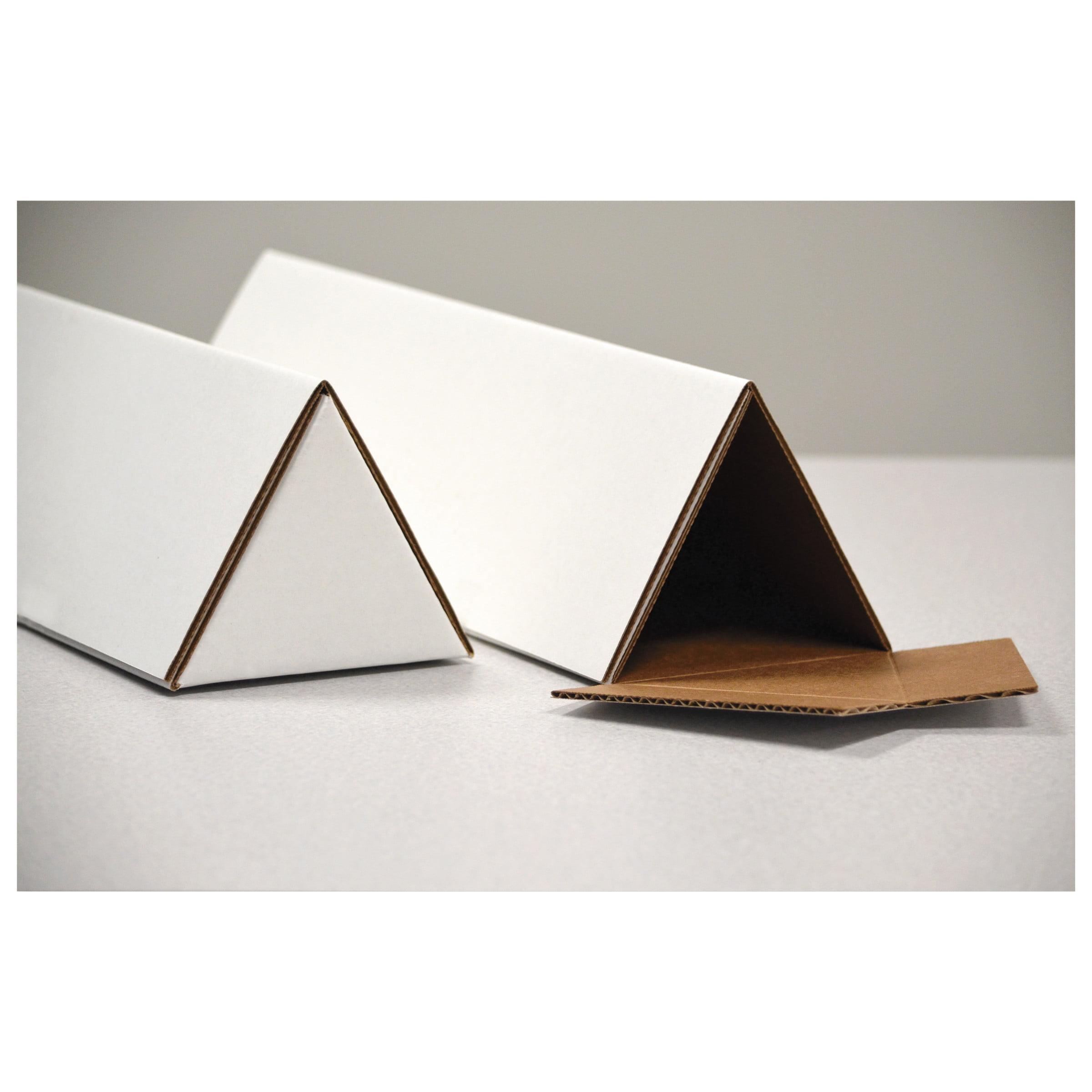 General Supply Triangular Mailing Tubes, 36l x 1/4w x 2h, White, 25/Pack -UFSTTW236
