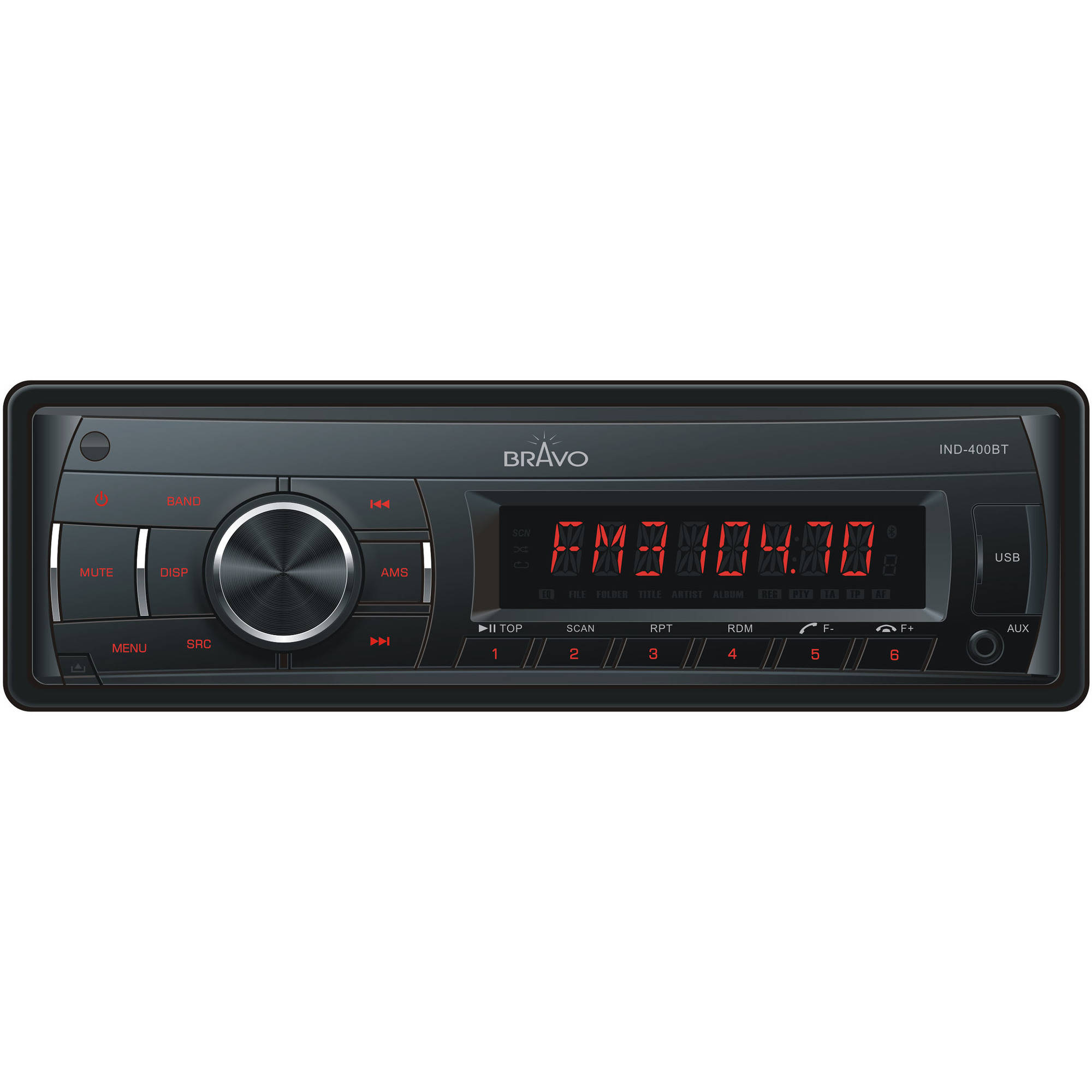 Bravo View IND-400BT - In-Dash Digital Media Receiver with Bluetooth and