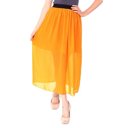 Boho-Style Long Pleated Skirt w/ Belt and Elastic Waist, (Pleats Wool Belt)