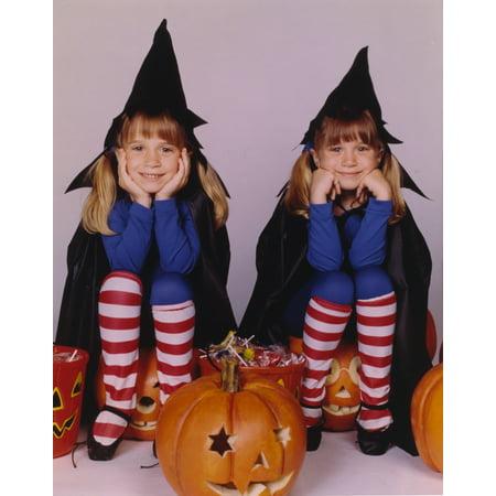 Full House Halloween Theme Portrait Photo Print (Halloween Portrait)