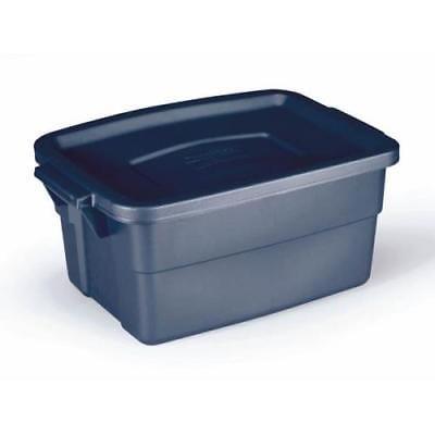 Rubbermaid Dark Indigo Metallic Roughneck Storage Box, 3 Gallon, 2Pack