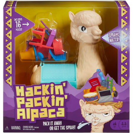 Hackin' Packin' Alpaca Kids Game with Spitting Alpaca for Ages 5Y+