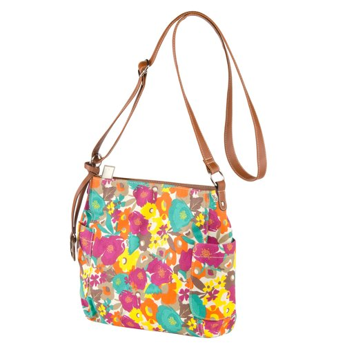 Canvas Cross-Body Shoulder Bag Multi Floral Print - Walmart.com