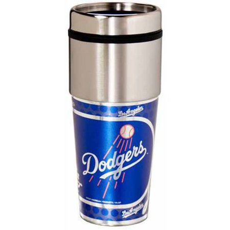 MLB Los Angeles Dodgers 16 oz Metallic Coffee Travel Mug