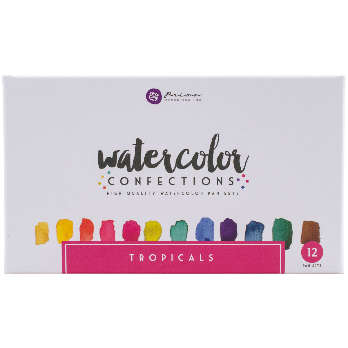 Prima Marketing Watercolor Confections Watercolor Pans, 12pk, Tropicals