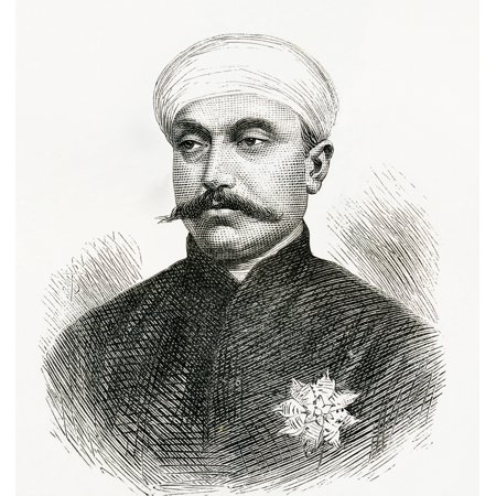 Sir Mir Turab Ali Khan Salar Jung I 1829 To 1883 Indian Statesman And Prime Minister Of Hyderabad Andhra Pradesh India From El Mundo En La Mano Published 1878 Canvas Art   Ken Welsh  Design Pics  14 X