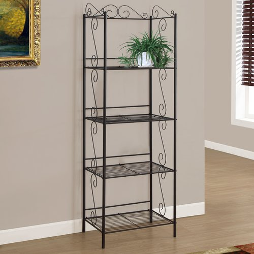 "Monarch Bookcase 70""H / Copper Metal Etagere"