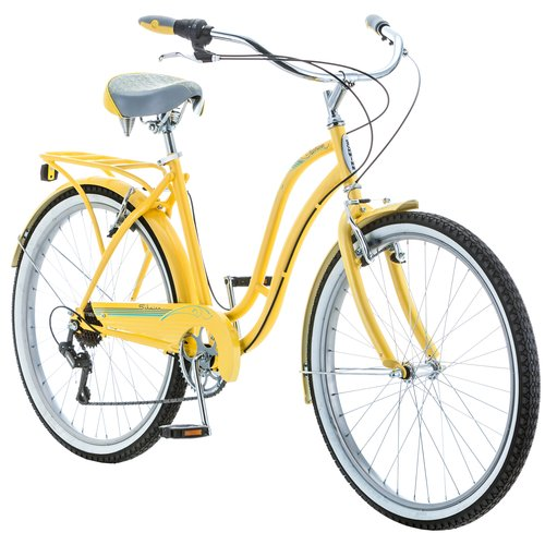 "26"" Schwinn Fairhaven Women's 7-Speed Cruiser Bike, Yellow"