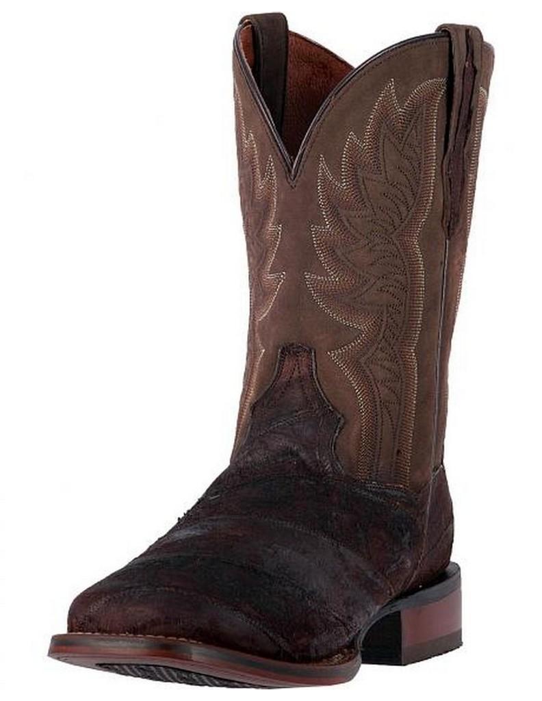 Dan Post Western Boots Mens Cader Reverse Eel Cowboy Chocolate DP2996 by Dan Post Boots