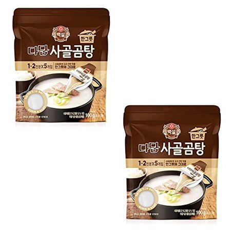 Korean CJ Dadam Beef Stock Soup 3.53oz (Pack of 2)
