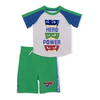 PJ Masks Baby Toddler Boy T-shirt & Short, 2 pc Outfit Set