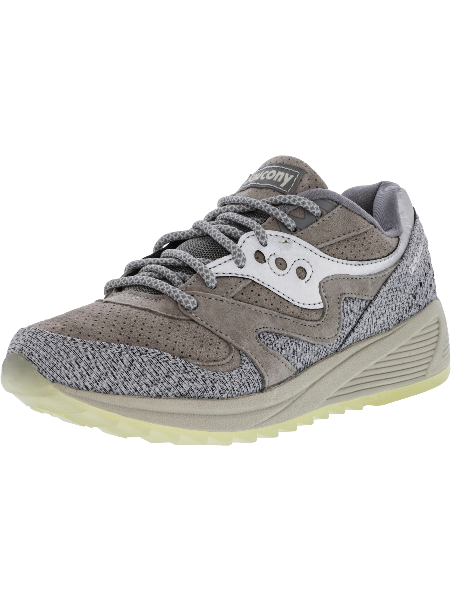 Saucony Men's Grid 8000 Grey Ankle-High Fashion Sneaker 12M by Saucony
