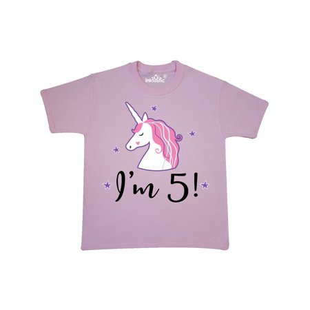 5th Birthday Cute Unicorn Youth T Shirt