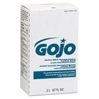 GOJO Antimicrobial Lotion Soap w/Chloroxylenol, Floral, 2000mL Refill, 4/Carton -GOJ2212