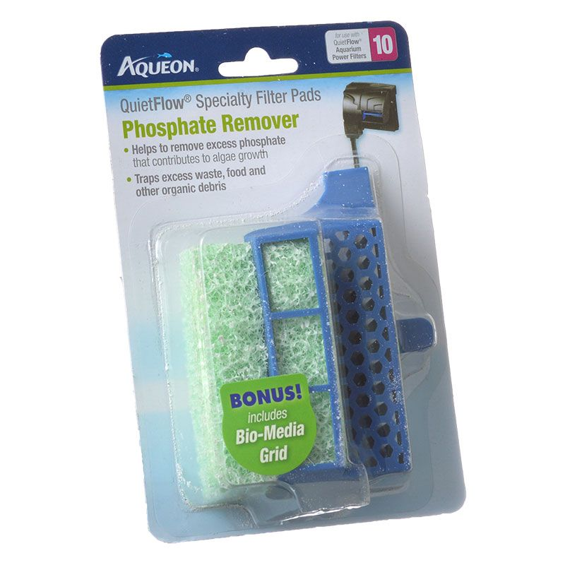 Aqueon QuietFlow Specialty Filter Pads - Phosphate Remover QuietFlow 10 - 4 Pack - Pack of 2