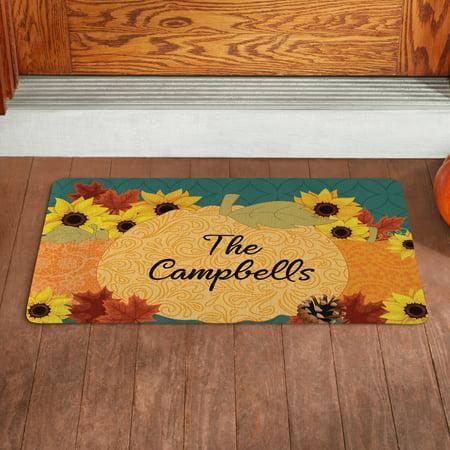 Personalized Pumpkin Scroll Doormat