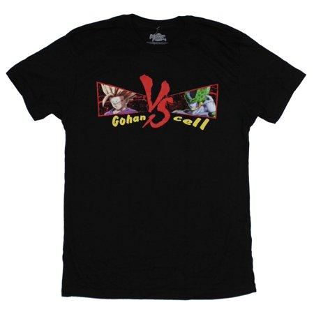 Dragon Ball Fighter Z Mens T-Shirt - Cell Vs Gohan (Dragon Ball Z Gohan Vs Cell Final Battle)