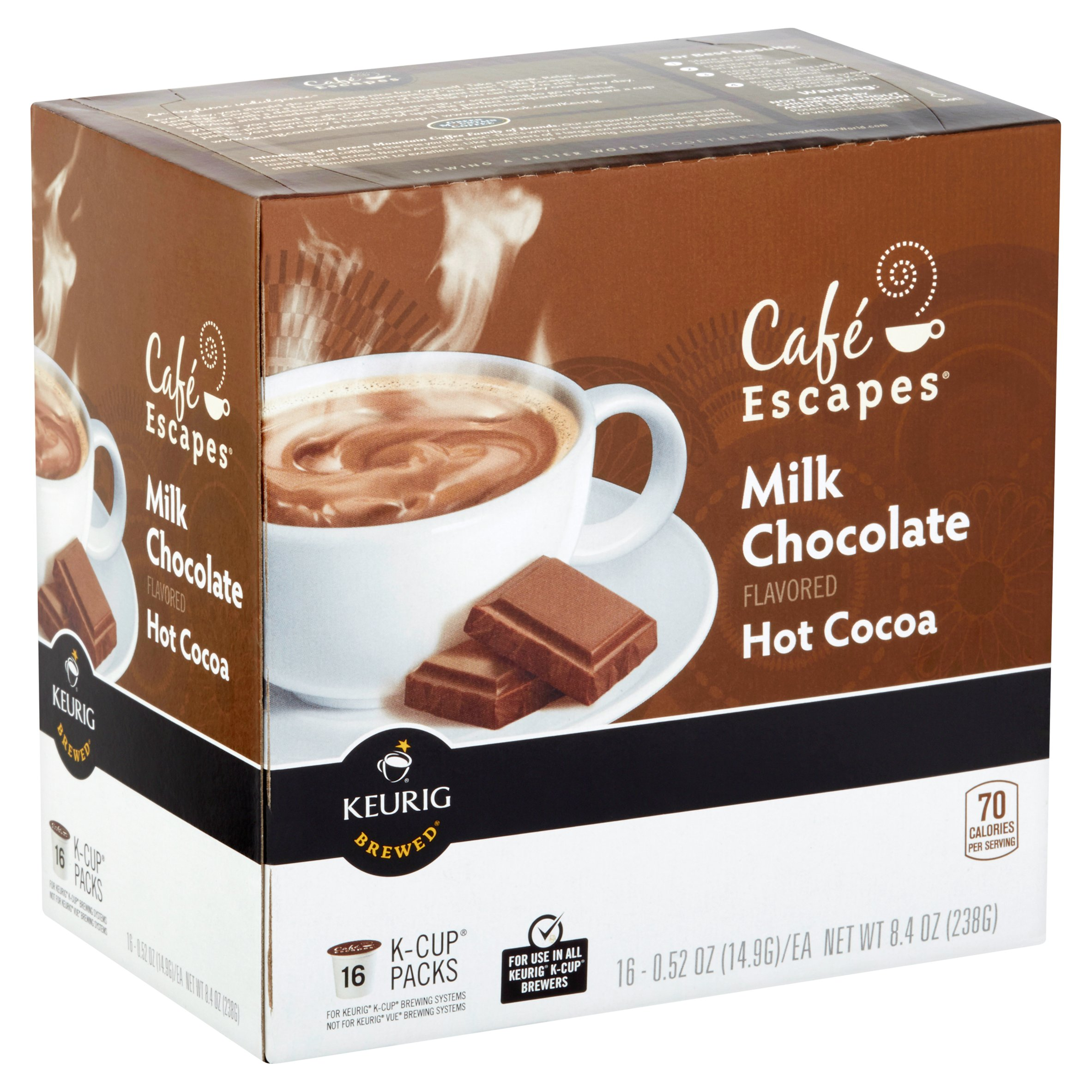 Cafe Escapes Milk Chocolate Hot Cocoa Coffee Pods, 16 pods ...