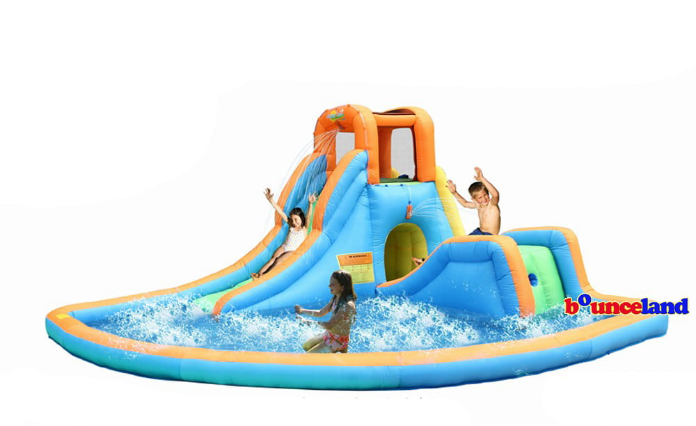 bounceland cascade inflatable water slides with large pool walmartcom - Blow Up Water Slides