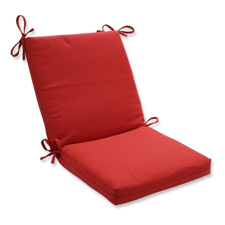 Tweed Textured Red Outdoor Patio Chair Cushion with Ties 36.5""