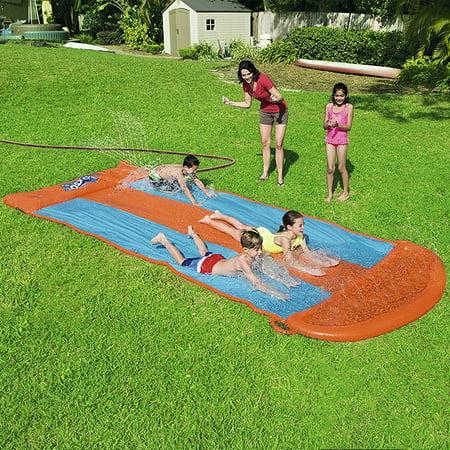 Bestway 18 Ft Aqua Ramp Triple Slide (Best Way To Remove Moss From Lawn)