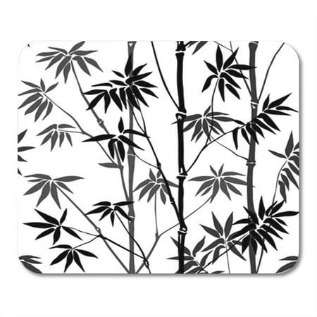 SIDONKU Bamboo Seamless Pattern on White Background Tropical Wallpaper Nature Textile Mousepad Mouse Pad Mouse Mat 9x10 (Best Nature Wallpapers For Laptop)