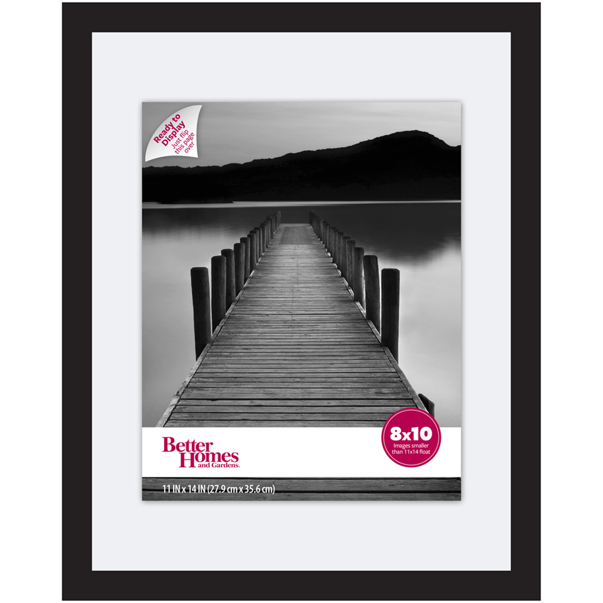 Click here to buy Better Homes & Gardens 11x14 Wide Black Float Picture Frame by Generic.