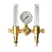 SPARC Dual Argon Flow Meter / Regulator Combo CGA580 MIG / TIG Flowmeter
