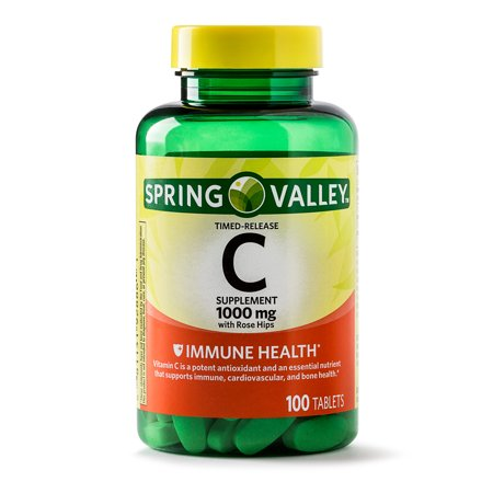Spring Valley Vitamin C Timed Release Tablets, 1000 mg, 100 (Best Vitamin C Vitamins)