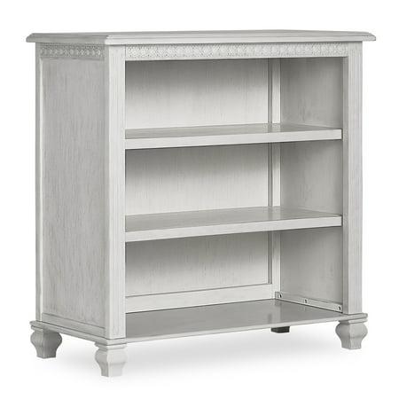 Evolur Madison Mini Hutch/Bookcase, Antique Gray Mist
