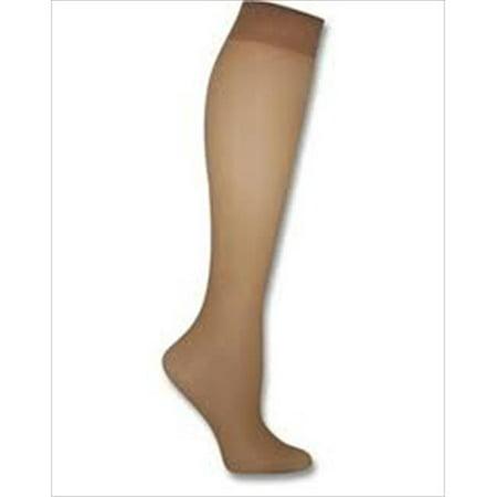00P15 Womens Silk Reflections Plus Sheer Non-Control Top Enhanced Toe Pantyhose Size - 3P, Travel Buff (Non Buff)