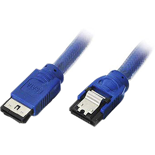 Link Depot 6' E-SATA to SATA 3Gbps Cable, Blue