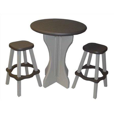 Leisure accents 3 piece patio pub table with stools for Cie publication 85 table 2