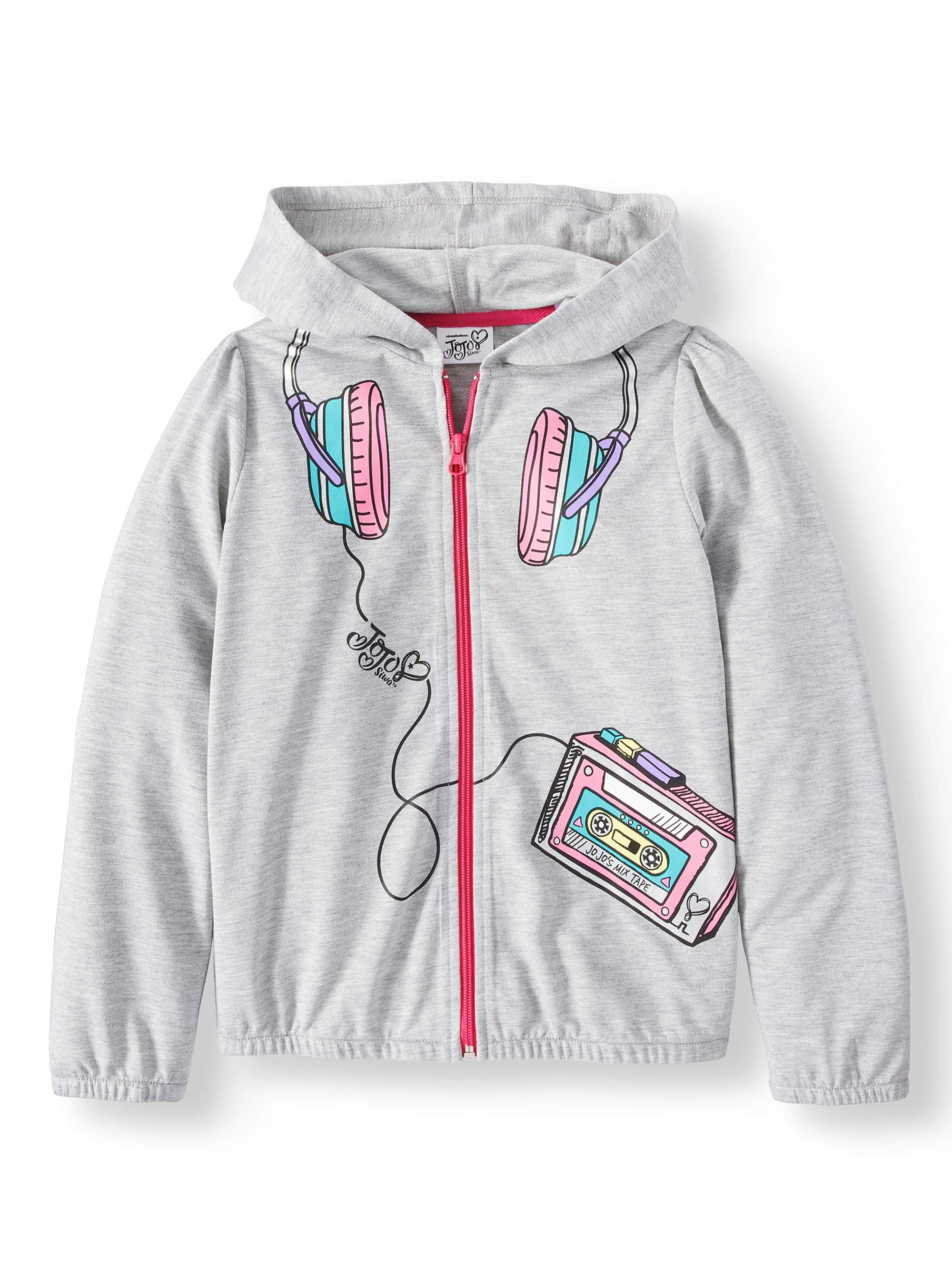 French Terry Hoodie with 3D Bow (Big Girls)
